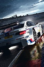 Raining day, BMW M3 in race iPhone Wallpaper