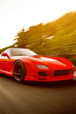 Red Mazda RX-7 FD supercar iPhone wallpaper