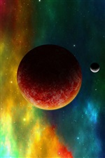 Red planets, space color iPhone Wallpaper