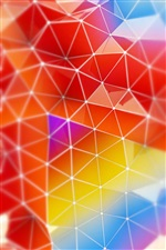 Render abstract triangle colors iPhone wallpaper