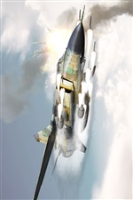 Rocket attack, fighter iPhone wallpaper