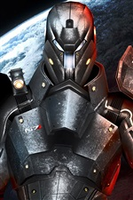 Mass Effect 3, N7, metal armor warrior iPhone wallpaper