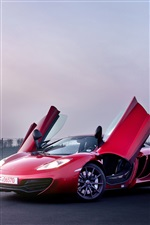 McLaren MP4-12C red color supercar iPhone wallpaper