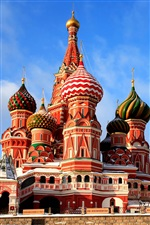 Moscow St Basil Cathedral iPhone wallpaper
