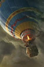 Oz The Great and Powerful, hot air balloon iPhone wallpaper