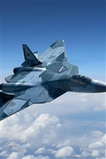 Russian multirole fighter iPhone wallpaper