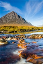 Scotland scenery, mountains river sky rocks iPhone wallpaper