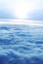 Blue sky clouds iPhone wallpaper