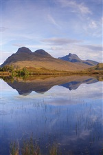 Scotland, nature landscape, lake, mountains iPhone wallpaper