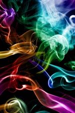 Smoke colorful, abstraction creative iPhone wallpaper