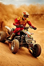 Sports, motorcycle race, dusty iPhone wallpaper