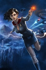 Star Trek Online, beautiful girl iPhone wallpaper