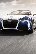 Audi TT car front view iPhone wallpaper