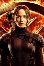 Jennifer Lawrence, The Hunger Games: Mockingjay, Part 1 iPhone wallpaper