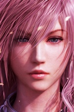 Purple hair girl, Final Fantasy XIII iPhone Wallpaper