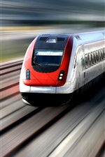 Train in high speed iPhone wallpaper