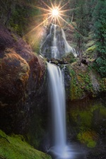Gifford Pinchot National Forest, waterfalls, Washington, USA iPhone Wallpaper