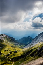 Mount Pilatus, Switzerland, mountains, clouds iPhone wallpaper