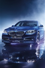 2015 BMW F10 blue car iPhone wallpaper