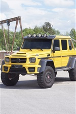 2015 Mercedes-Benz G63 AMG 6x6 pickup iPhone wallpaper