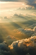 Clouds, morning, sunrise iPhone wallpaper