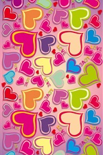 Colorful, rainbow, love hearts iPhone wallpaper