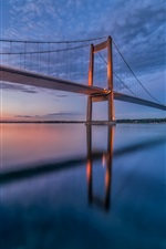 Denmark, Little belt bridge, bridge, night iPhone wallpaper