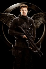 Liam Hemsworth, The Hunger Games: Mockingjay, Part 1 iPhone wallpaper