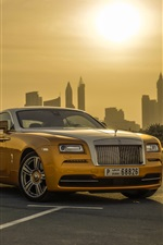 Rolls-Royce Wraith luxury gold car iPhone wallpaper