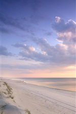 Lithuania, Baltic Sea, beach, sunset iPhone Wallpaper