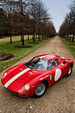 1964 Ferrari 250 LM red supercar iPhone wallpaper
