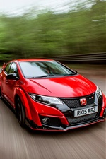 2015 Honda Civic UK-spec red car iPhone wallpaper