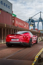 2015 Zender Alfa Romeo 4C red supercar rear view iPhone wallpaper