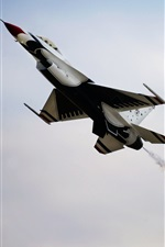 Airplane, sky, Thunderbird fighter iPhone Wallpaper