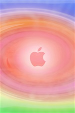 Apple circle pink background iPhone wallpaper