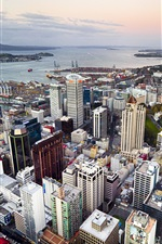 Auckland, New Zealand, city, buildings, street iPhone wallpaper