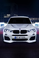 BMW ACS X4 white car front view iPhone wallpaper