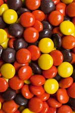 Colorful candy, red, yellow, brown iPhone wallpaper