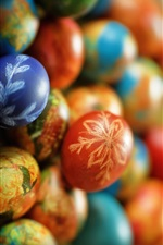 Easter, colorful eggs iPhone wallpaper
