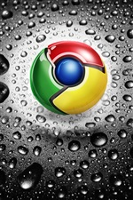 Google Chrome logo iPhone wallpaper