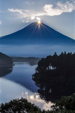 Japan Fuji volcano, mountain, sunrise iPhone wallpaper