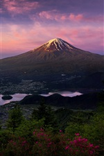 Japan, Honshu, volcano, Fuji mountain, morning iPhone wallpaper