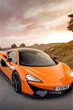 McLaren 570S orange supercar iPhone wallpaper
