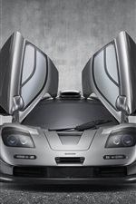 McLaren F1 GT supercar, wings iPhone wallpaper