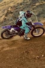 Motocross, pilot, dust, race iPhone wallpaper