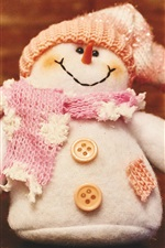 Snowman, scarf, hat, buttons, toy iPhone wallpaper