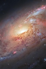 Spiral galaxy, M106, Hubble Space Telescope, NASA iPhone wallpaper