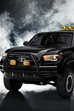 Toyota Tacoma black pickup iPhone wallpaper