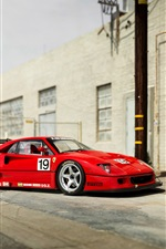 1994 Pininfarina Ferrari F40 red supercar iPhone wallpaper