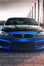 2013 Hamann BMW Coupe F13 blue car iPhone wallpaper